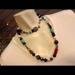 Jewelry - Handmade Colorful Long Beaded Necklace